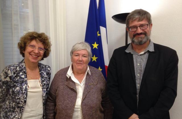 visite mme la ministre jacqueline gourault en prsence de m stphane brunot sous directeur des lus locaux et de la fonction publique territoriale